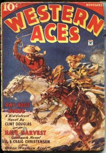 WESTERN ACES-MAY 1936--PREACHER DEVLIN by LL FOREMAN--DESOTO COVER ART-RARE P...