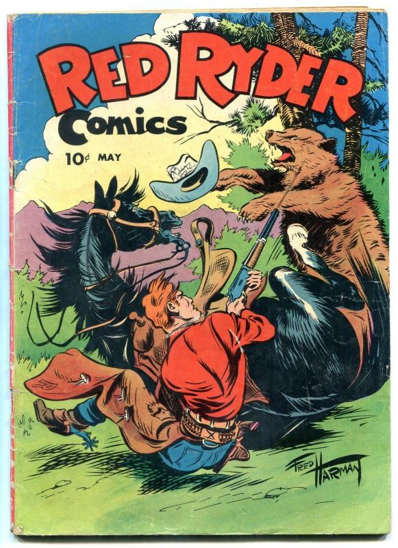 Red Ryder Comics #34 1946- Dell Western- Little Beaver VG