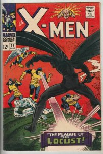 X-Men # 24 Strict VF+ High-Grade 1st The Locust, Werner Roth, Dick Ayers Wow