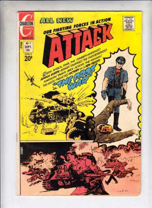 Attack #7 (Sep-72) FN Mid-Grade