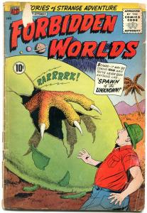 Forbidden Worlds #98 1961- Silver Age comic- sci fi monster cover G