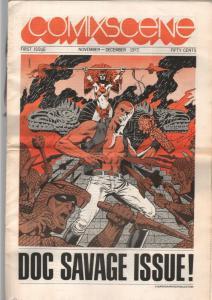 Comixscene #1 1972-1st issue-Doc Savage issue-Jim Steranko-tabloid format-VG
