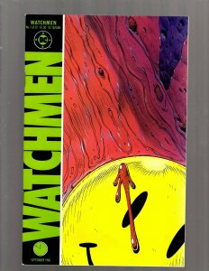 Watchmen # 1 VF DC Comic Book + SEALED Watchmen Buttons 1986 Limited Collect SB5