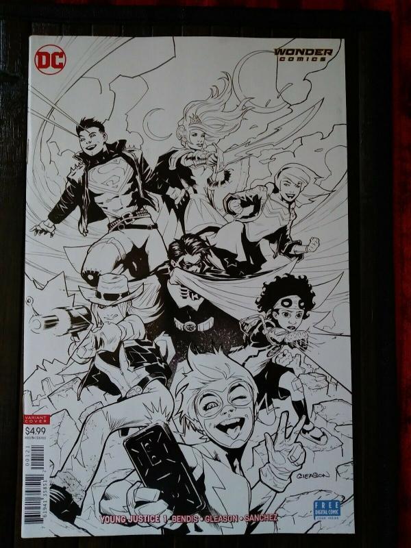 Young Justice Vol 3 #1 Cover B Variant Patrick Gleason Sketch Cover Unread Copy