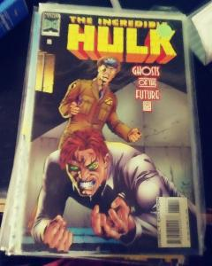 incredible hulk  # 437 199  MARVEL ,ghosts of the future  pt 2 -leader talbot