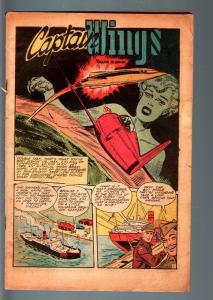 WINGS #89-PHANTOM FALCON-GHOST SQUADRON-GOOD GIRL ART-COVERLESS COPY-1948-F FR