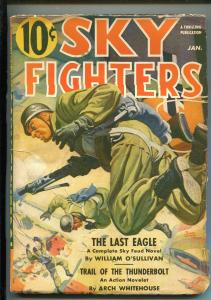 SKY FIGHTERS 1/1941-AIR WAR PULP-THRILLS-PARATROOPER-BELARSKI-O'SULLIVAN-fn-