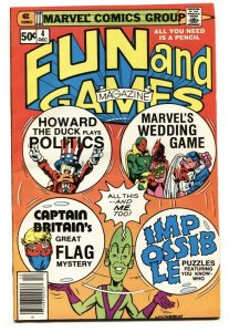 MARVEL FUN AND GAMES #4 1979-Captain Britain-HOWARD THE DUCK-NM-