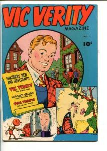 VIC VERITY #1-1945-CC BECK ART-FAWCETT-SOUTHERN STATES-fn/vf