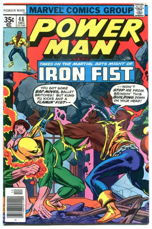 POWER MAN & IRON FIST #48, FN, Luke Cage, 1974, Kung-Fu, 1st Team up / meeting
