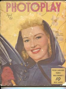 Photoplay-Betty Grable-June Allyson-Robert Mitchum-Jane Wyman-April-1949