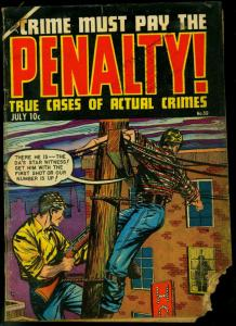 Crime Must Pay the Penalty #39 1954- sniper cover- golden age comic G-