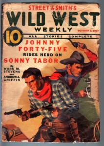 WILD WEST WEEKLY-10/2/1937-PULP-JOHNNY FORTY-FIVE-SONNY TABOR FR