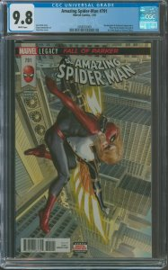 Amazing Spider-Man #789 CGC Graded 9.8 Mockingbird & Griffin appearance
