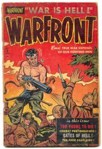 Warfront #3 1952- Golden Age Korean War era comic G-