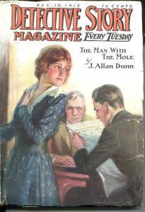 DETECTIVE STORY MAGAZINE-DEC 10 1918-J ALLEN DUNN-REES HAY-vg minus VG-