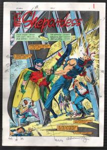 Robin Comics #2 Handpainted Color Guides 1990's-Adrienne Roy signed-DC