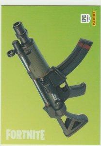 Fortnite Submachine Gun 104 Uncommon Weapon Panini 2019 trading card series 1