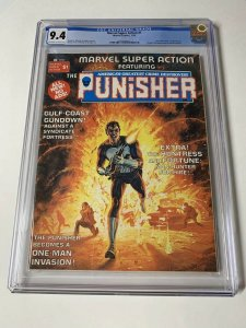 Marvel Super Action 1 Cgc 9.4 Ow/w Pages (copy A) Punisher Story