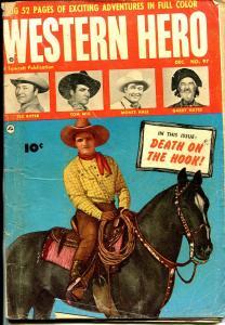 Western Heroes #97 1950-Fawcett-Tex Ritter-Gabby Hayes-Tom Mix-Monte Hale-G/VG