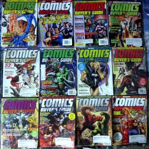 COMICS BUYER'S GUIDE #1608-1641, 12 diff - Marvel DC News Spider-Man JLA FF ++