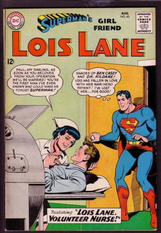 Supermans girl friend lois lane 43 1963 nurse issue vg hipcomic supermans girl friend lois lane 43 1963 nurse issue vg thecheapjerseys Gallery
