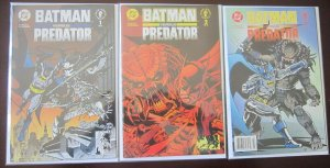 Batman vs Predator Comics Set # 1 - 3 - 8.0 VF - 1991