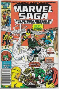 Marvel Saga  : Official History of the Marvel Universe   #10 FN