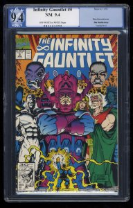 Infinity Gauntlet #5 PGX NM 9.4 OFF-WHITE to WHITE Pages