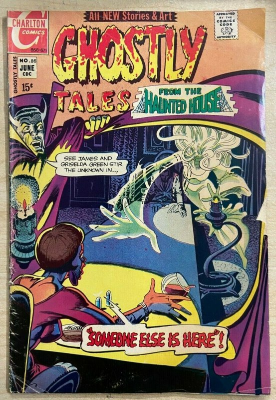 GHOSTLY TALES #86 (Charlton, 6/1971) VERY GOOD (VG)  Steve Ditko cover/Story