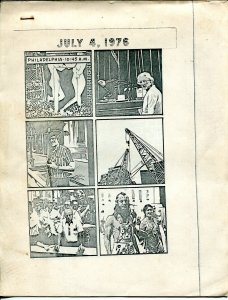 July 4, 1976-Philadelphai 4th of July Weekend Comic Con-Bill Stout drawings-VG