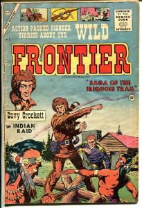 Wild Frontier #1 1955-Charlton-1st issue-Davy Crockett-Iriquois Trail-VG