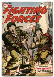 Our Fighting Forces #27 1957-DC war comic- Kubert cover FN
