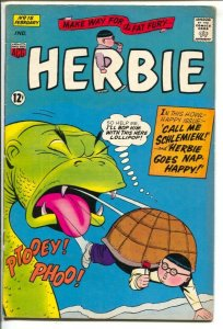 Herbie #15 1966-ACG-turtle cover-dinosaur story-VG+