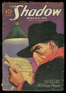 SHADOW JUNE 15 1933-GHOST MANOR-WALTER B GIBSON-PULP VG