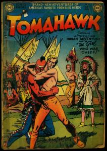 Tomahawk #5 1951- DC Western- Indian Fight cover F/G