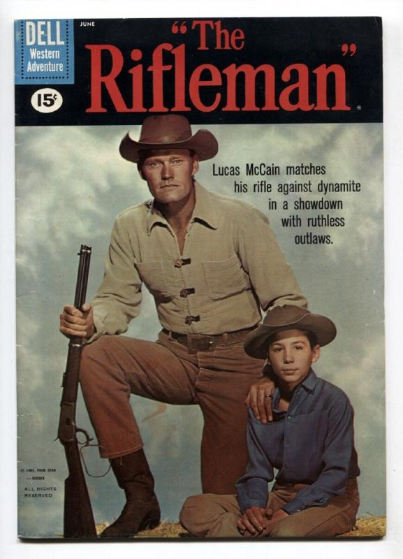 Rifleman #7 1961- 15 cent cover- Dell Western FN/VF