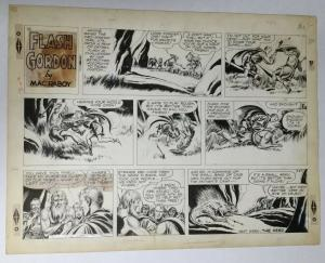 Flash Gordon Original Art Sunday Strip 1955 Mac Raboy Very Fine Condition