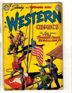 Western Comics # 28 FN- DC Golden Age Comic Book Cowboy Wyoming Kid Creek JL8