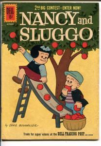 NANCY AND SLUGGO #184 1960-DELL-BUSHMILLER-PEANUTS-SCHULZ-good/vg