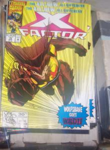 X-Factor #76 (Mar 1992, Marvel) WOLFSBANE GOES WILD HULK PARTHENON