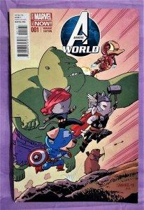 Jonathan Hickman AVENGERS WORLD #1 Chris Samnee Animal Variant (Marvel, 2014)!