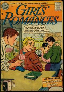 GIRLS' ROMANCES #43 1957-DC COMICS-SODA SHOP-ICE CREAM! G