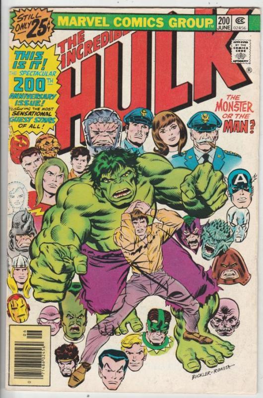 Incredible Hulk #200 (Jun-76) FN/VF Mid-High-Grade Hulk