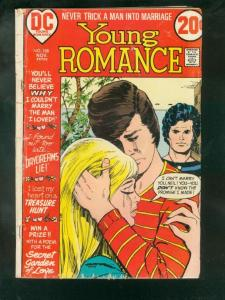 YOUNG ROMANCE #188 1972-DC ROMANCE- G/VG