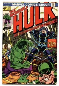 INCREDIBLE HULK #175 comic book-Black Bolt cover-Marvel 1974