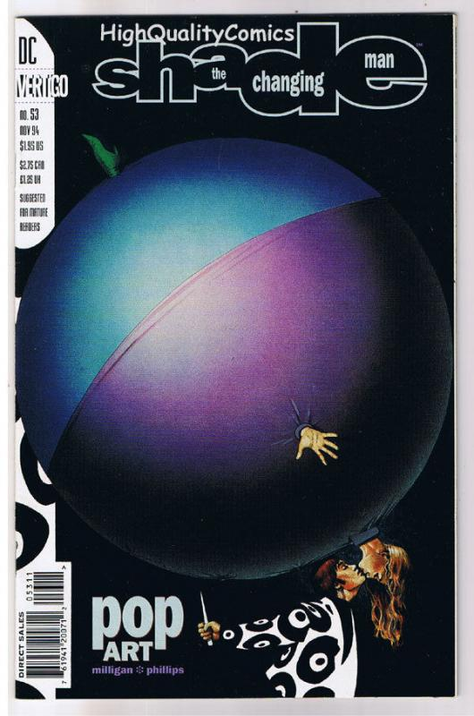 SHADE the CHANGING MAN #53, NM+, Peter Milligan, 1990, more Vertigo in store