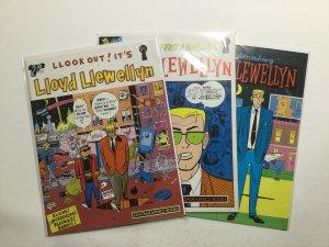 Lloyd Llewellyn 1-3 1 2 3 Magazine Lot Near Mint Nm Fantagraphics Books