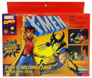 Marvel Universe X-Men '92 Wolverine & Jubilee Two Pack ARTFX+ Statues - New!