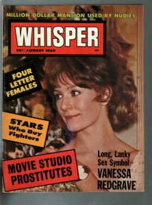 Whisper 8/1969-Vanessa Redgrave-drug addicts-topless dancers-exploitation-VF-